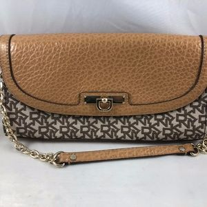 DKNY Brown/Taupe Shoulder Purse